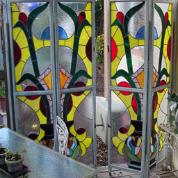 Stained glass patterns a bold colorful bi fold door design consists of 4 sections or 8 panels each of the 8 glass panels measures 155 x 31 each section measures planetlyrics Gallery